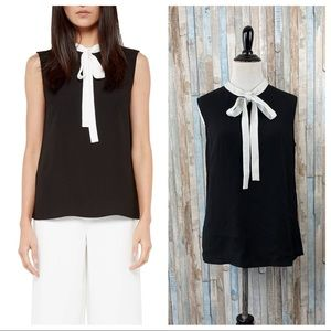 Ted Baker 8 10 Bow Tie Neck Olia Crepe Top Blouse